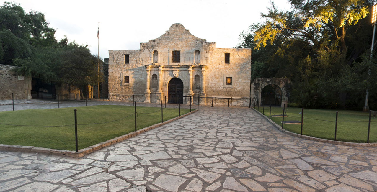 Photo link to 360 degree tour of the Alamo