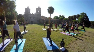 Yoga in Your Park: Mission Concepcion