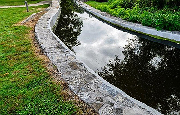 Photo of the Acequia